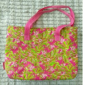 Lily Pulitzer Green Pink Floral Cooler Bag